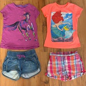 5T shorts/T-shirt bundle (2 outfits)